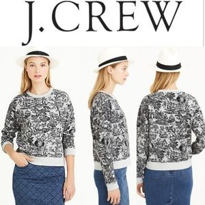J. CREW - Toile French Print Sweater